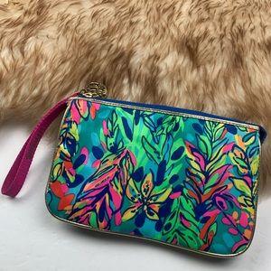 Lilly Pulitzer Hot Spot Wristlet Wallet Pouch Zip